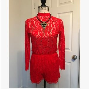 🔥Red Long Sleeved Romper🔥